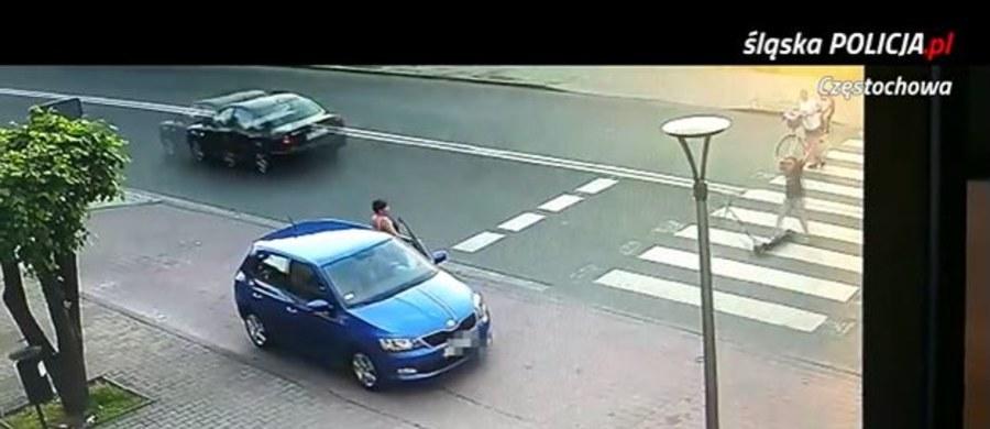 Sprawa kierowcy, który w podczęstochowskich Rędzinach o mało nie rozjechał na przejściu dla pieszych czterech osób, ma drugi wątek. Chodzi o zachowanie dziecka, które jechało wtedy na hulajnodze.