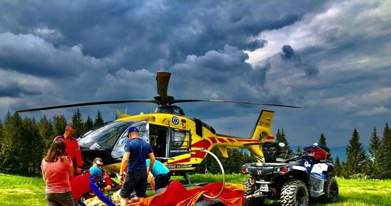 To znowu był pracowity weekend dla ratowników GOPR-u w Beskidach. Dwa razy musieli oni wzywać śmigłowiec. Tylko w sobotę zanotowano tam 10 wypadków.