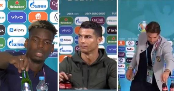 Po tym jak na konferencji prasowej Portugalczyk Cristiano Ronaldo ostentacyjne odsunął butelki Coca-Coli, a Francuz Paul Pogba piwo Heineken, UEFA przypomniała piłkarzom rywalizującym w mistrzostwach Europy, że mają obowiązki wobec sponsorów.