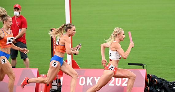 """Bardzo pewnie czuje się przed sobotnim finałem na igrzyskach olimpijskich w Tokio polska sztafeta mieszana 4x400 m, która w biegu eliminacyjnym ustanowiła rekord Europy. """"Ten rekord przetrwa tylko 24 godziny. Będzie gruby medal i to nie brązowy"""" - zapewniła Małgorzata Hołub-Kowalik."""