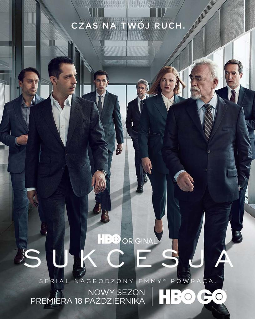 """Serial HBO """"Sukcesja"""", którego drugi sezon nagrodzony został siedmioma statuetkami Emmy, w tym dla najlepszego serialu, powraca z nowym, trzecim sezonem. Jego premiera odbędzie się już 18 października w HBO i HBO GO."""