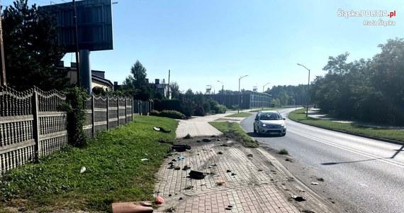 Kompletnie pijany kierowca ciężarówki staranował przydrożne barierki, kosz na śmieci i sygnalizator w Rudzie Śląskiej. Po tym zdarzeniu próbował uciekać pieszo, ale zatrzymali go świadkowie. Badanie alkomatem wykazało u niego ponad 3,5 promila alkoholu. Mężczyzna czeka na przesłuchanie.