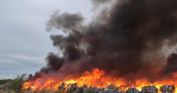 Drugą dobę trwa akcja gaśnicza na nielegalnym składowisku odpadów w Sobolewie koło Jawora na Dolnym Śląsku. Do pożaru doszło w sobotę rano. Działania pozwalające ustalić jego przyczynę, rozpoczną się dopiero po zakończeniu pracy przez strażaków.