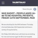 NHS w UK szuka statystów do występu w szpitalach