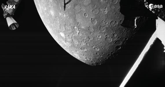 BepiColombo przesłała pierwsze zdjęcie Merkurego. Sonda zbliżyła się do najmniejszej i najbliższej Słońcu planety Układu Słonecznego na odległość zaledwie 200 kilometrów.