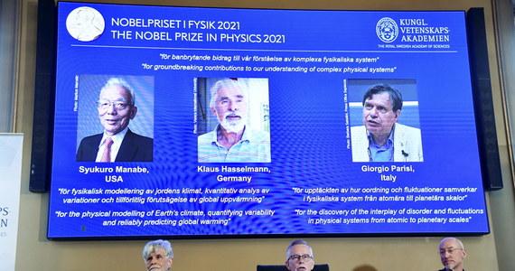 """Tegorocznymi laureatami Nagrody Nobla w dziedzinie fizyki zostali Syukuro Manabe, Klaus Hasselmann i Giorgio Parisi  za """"przełomowy wkład w nasze zrozumienie złożonych zjawisk fizycznych""""."""