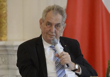 Prezydent Czech zabrany do szpitala. Wcześniej spotkał się z Andrejem Babiszem