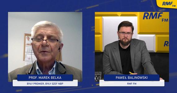 """""""Rada Polityki Pieniężnej stanęła okoniem i stwierdziła, że ten ruch jest potrzebny dla ratowania wizerunku [podniesienie stóp procentowych – przyp. RMF]. Natomiast jest to niekonsekwentna polityka, bo podwyższeniu stóp procentowych powinno zostać powiedziane, że nie wykluczamy kolejnych. To pomogłoby w wzmacnianiu złotego"""" – mówił europoseł prof. Marek Belka w Popołudniowej rozmowie w RMF FM. """"Wzrost stóp procentowych ma szanse oddziaływać na inflację po kilku kwartałach – roku półtora. Ta podwyżka jest spóźniona, mimo że spóźniona, to lepiej późno niż wcale"""" – skomentował europoseł."""