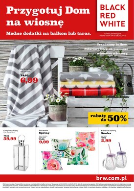 Gazetka promocyjna Black Red White - Przygotuj dom na wiosnę - modne dodatki na balkon lub taras