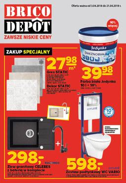 Gazetka promocyjna Brico Depot, ważna od 03.04.2018 do 21.04.2018.
