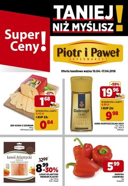 Gazetka promocyjna Piotr i Paweł, ważna od 10.04.2018 do 17.04.2018.