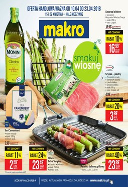 Gazetka promocyjna Makro Cash&Carry, ważna od 09.04.2018 do 23.04.2018.