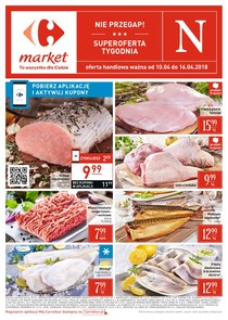 Gazetka promocyjna Carrefour Market, ważna od 10.04.2018 do 16.04.2018.