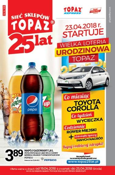 Gazetka promocyjna Topaz, ważna od 19.04.2018 do 25.04.2018.