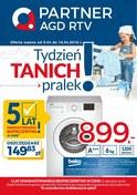Gazetka promocyjna Partner AGD RTV  - Tydzień tanich pralek  - ważna do 16-04-2018