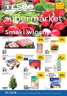 Gazetka promocyjna Tesco Supermarket - Smaki wiosny