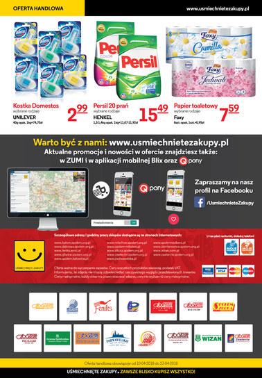 Gazetka promocyjna Uśmiechnięte Zakupy, ważna od 10.04.2018 do 23.04.2018.