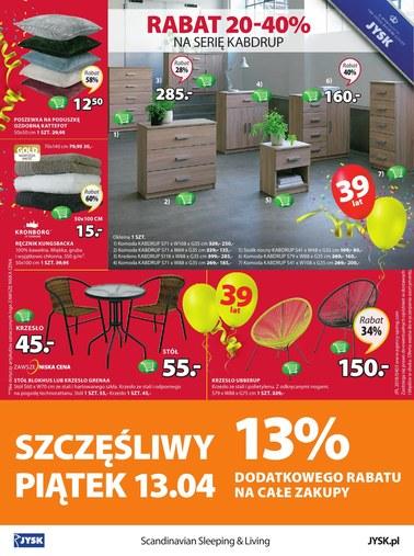 Gazetka promocyjna Jysk, ważna od 12.04.2018 do 25.04.2018.