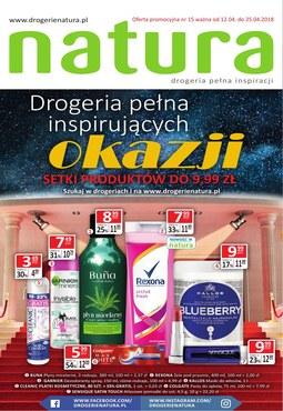 Gazetka promocyjna Drogerie Natura, ważna od 12.04.2018 do 25.04.2018.