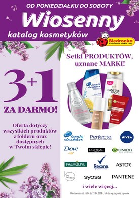 Gazetka promocyjna Biedronka - Wiosenny katalog kosmetyków