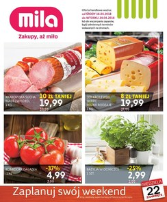 Gazetka promocyjna MILA, ważna od 18.04.2018 do 24.04.2018.