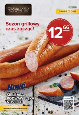 Gazetka promocyjna Spiżarnia Smakosza, ważna od 19.04.2018 do 09.05.2018.