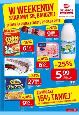 Gazetka promocyjna Selgros Cash&Carry, ważna od 20.04.2018 do 21.04.2018.