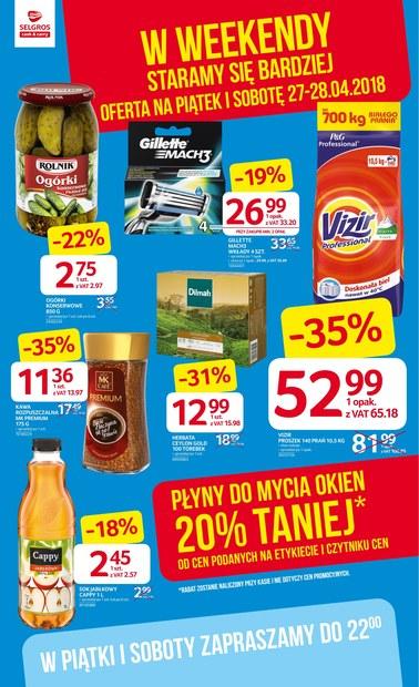 Gazetka promocyjna Selgros Cash&Carry, ważna od 27.04.2018 do 28.04.2018.