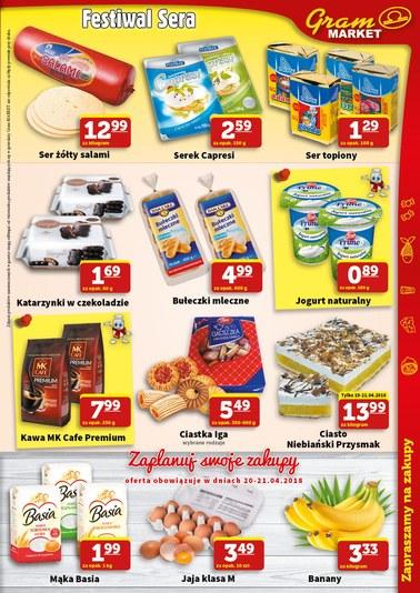 Gazetka promocyjna Gram Market, ważna od 18.04.2018 do 24.04.2018.