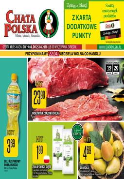 Gazetka promocyjna Chata Polska, ważna od 19.04.2018 do 25.04.2018.