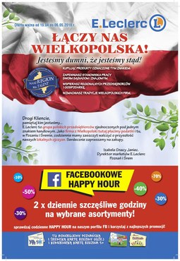 Gazetka promocyjna E.Leclerc, ważna od 19.04.2018 do 06.05.2018.