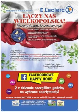 Gazetka promocyjna E.Leclerc - Łączy Nas Wielkopolska - Poznań i Śrem