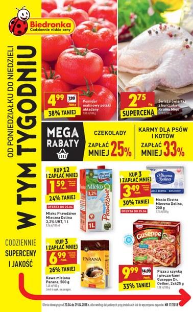 Gazetka promocyjna Biedronka, ważna od 23.04.2018 do 29.04.2018.