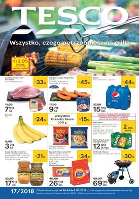 Gazetka promocyjna Tesco Hipermarket - Wszystko czego potrzebujesz na grilla