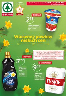 Gazetka promocyjna SPAR, ważna od 19.04.2018 do 02.05.2018.