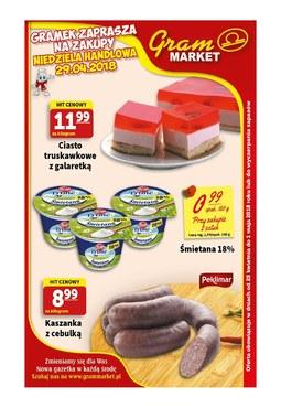 Gazetka promocyjna Gram Market, ważna od 25.04.2018 do 01.05.2018.