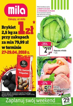 Gazetka promocyjna MILA, ważna od 25.04.2018 do 30.04.2018.