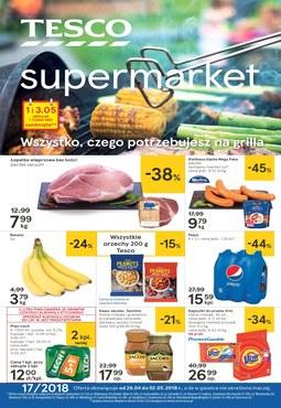 Gazetka promocyjna Tesco Supermarket, ważna od 26.04.2018 do 02.05.2018.