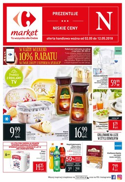 Gazetka promocyjna Carrefour Market, ważna od 02.05.2018 do 12.05.2018.