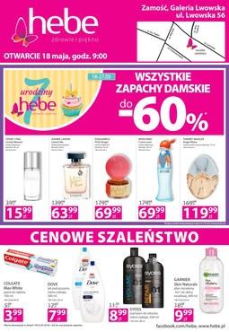 Gazetka promocyjna Hebe, ważna od 18.05.2018 do 21.05.2018.