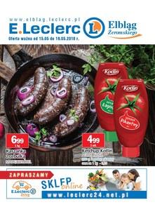 Gazetka promocyjna E.Leclerc, ważna od 15.05.2018 do 19.05.2018.