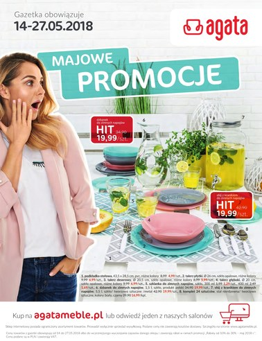 Gazetka promocyjna Agata , ważna od 14.05.2018 do 27.05.2018.