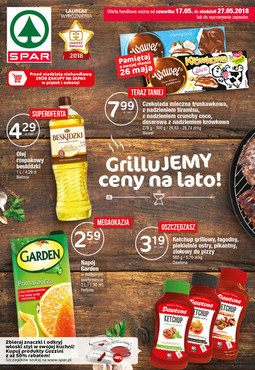 Gazetka promocyjna SPAR, ważna od 17.05.2018 do 27.05.2018.