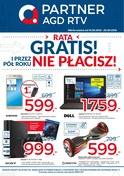 Gazetka promocyjna Partner AGD RTV  - Rata gratis i przez pół roku nie płacisz  - ważna do 20-05-2018