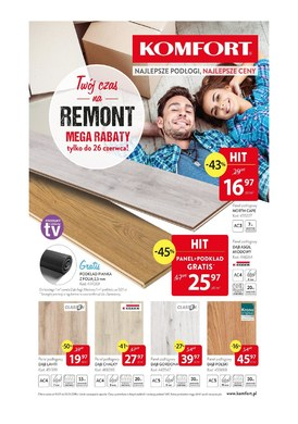 Gazetka promocyjna Komfort - Twój czas na remont