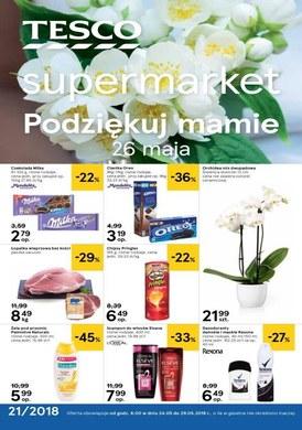 Gazetka promocyjna Tesco Supermarket - Oferty na Dzień Mamy