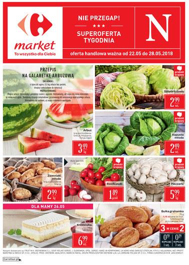 Gazetka promocyjna Carrefour Market, ważna od 22.05.2018 do 28.05.2018.