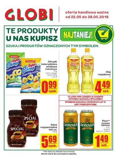 Gazetka promocyjna Globi, ważna od 22.05.2018 do 28.05.2018.