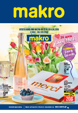 Gazetka promocyjna Makro Cash&Carry, ważna od 22.05.2018 do 04.06.2018.