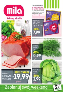 Gazetka promocyjna MILA, ważna od 23.05.2018 do 29.05.2018.